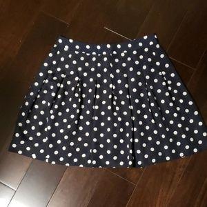 Jcrew Pokadot Navy Skirt